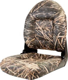 NaviStyle™ High-Back Camo Boat Seat - Mossy Oak Shadow Grass - Vinyl