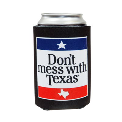Can Cooler - Don't Mess With Texas Black