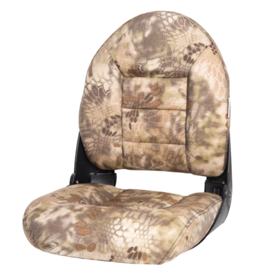 NaviStyle™ High-Back Camo Boat Seat - Kryptek Highlander - Cordura