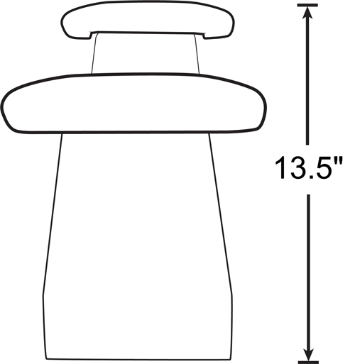 Deluxe Powder Coated Black Armrest Bracket