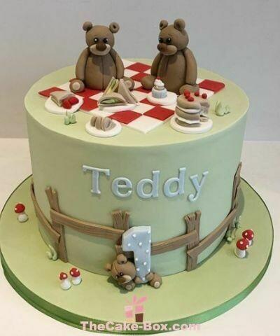 Teddy's Picnic Themed Cake