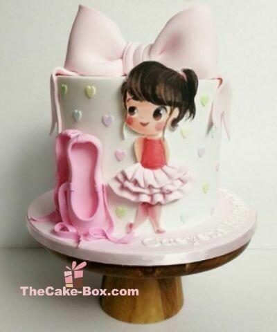 Little Ballerina Themed Cake