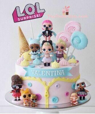 Pink LOL Girls Cake