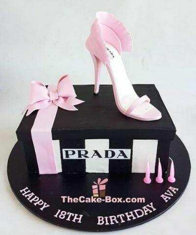 Prada Show Box and Shoe Cake For Her