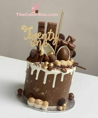 Chocolate Themed Dripping Cake