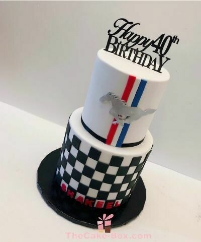 Ford Mustang Theme Cake For Him