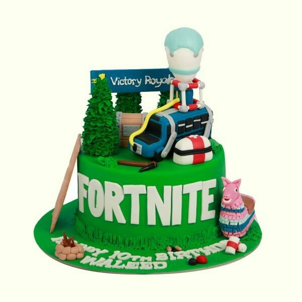 Fornite Theme Boys Birthday Cake