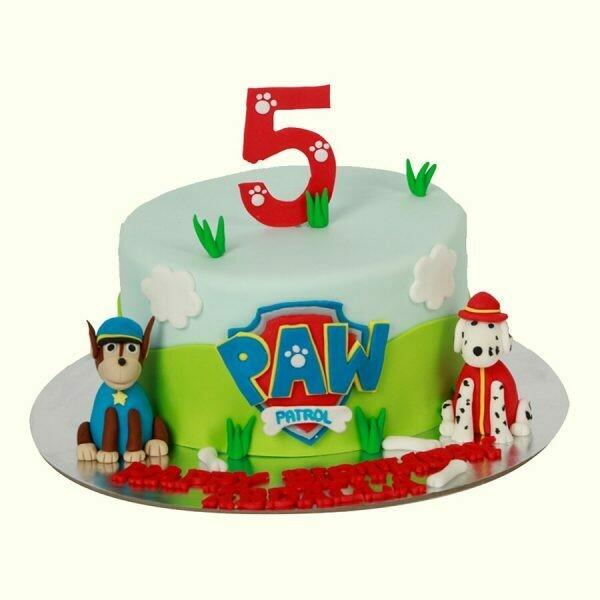 Paw Themed Boys Theme Cake
