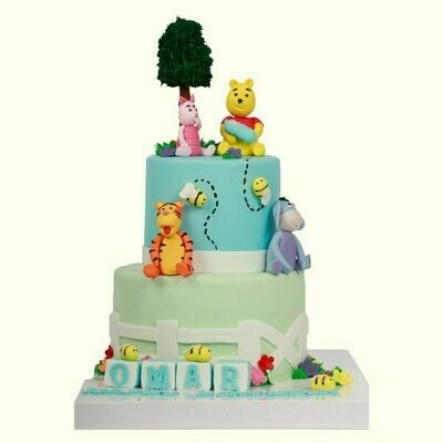 Baby Animals Boys Theme Cake