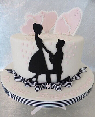 Down on One Knee Cake