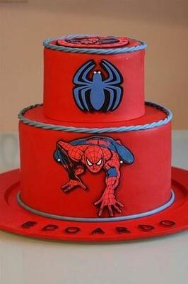 Classic Spiderman 3D Cake