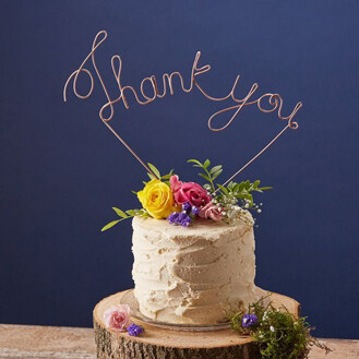 Thank You Wire Topper Cake