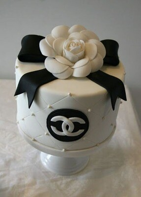 Floral Quilted Chanel Cake