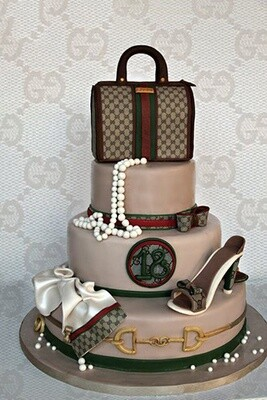 Gucci Set Tiered Cake