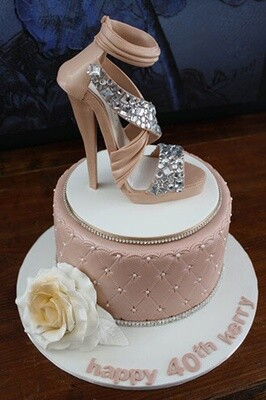 Diamond Crusted Heels Cake