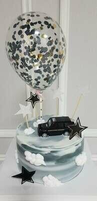 CAR CAKE WITH BALLOON