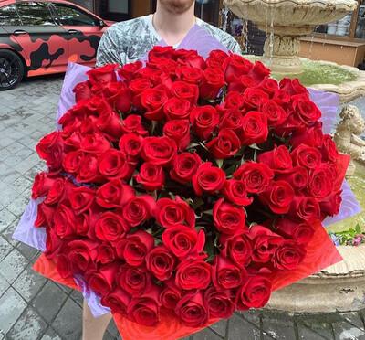 101 роза Премиум Эквадор Любовь 💗