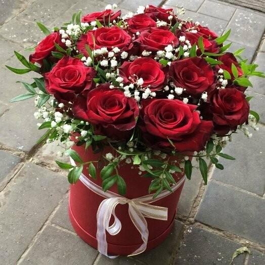 Коробка роз Первое свиданья