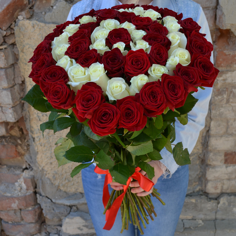 Букет 51 Роза Спираль