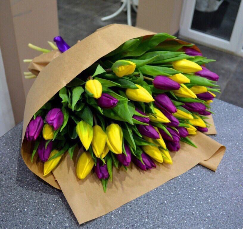 Букет Весенний хруст тюльпанов