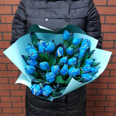 Синие Тюльпаны Премиум