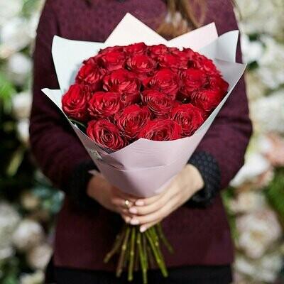 Букет 25 роз Кения Премиум