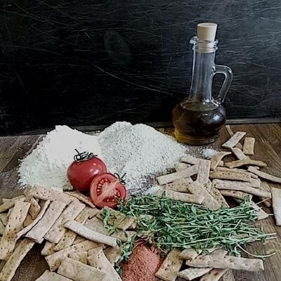 Галеты с тимьяном и томатом по итальянским рецептам на белом вине.