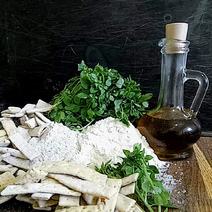 Галеты из грубой муки с базиликом по итальянским рецептам на белом вине.