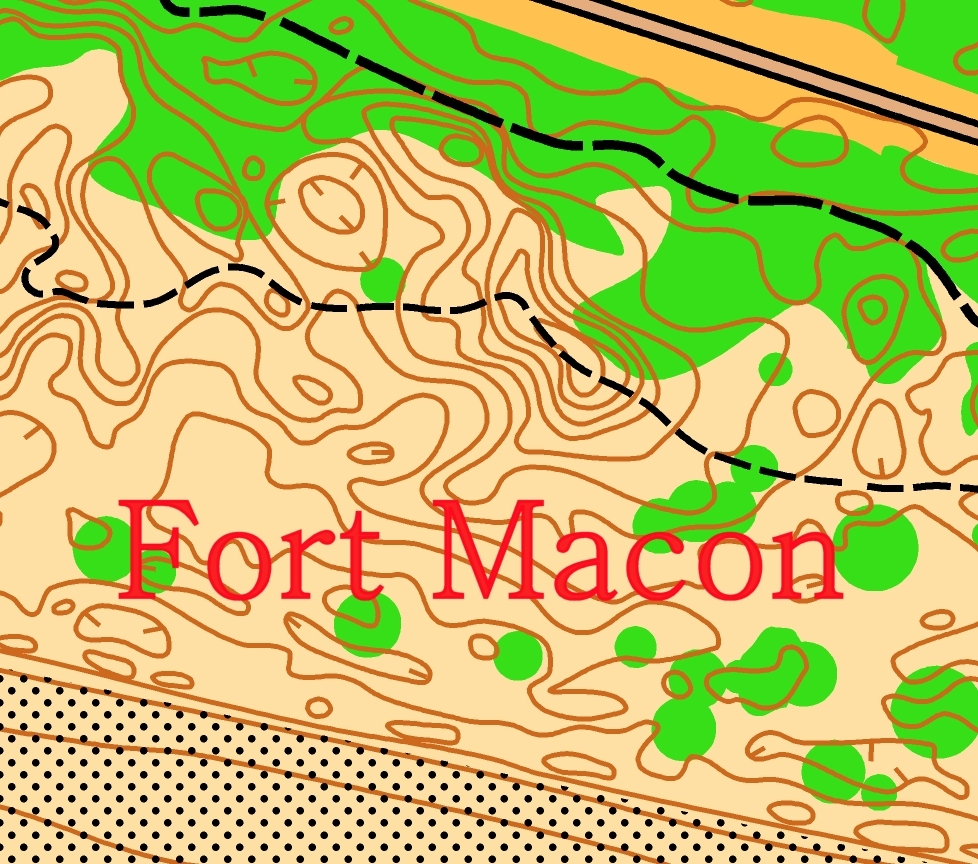 Ft. Macon State Park, Orienteering event. 00065