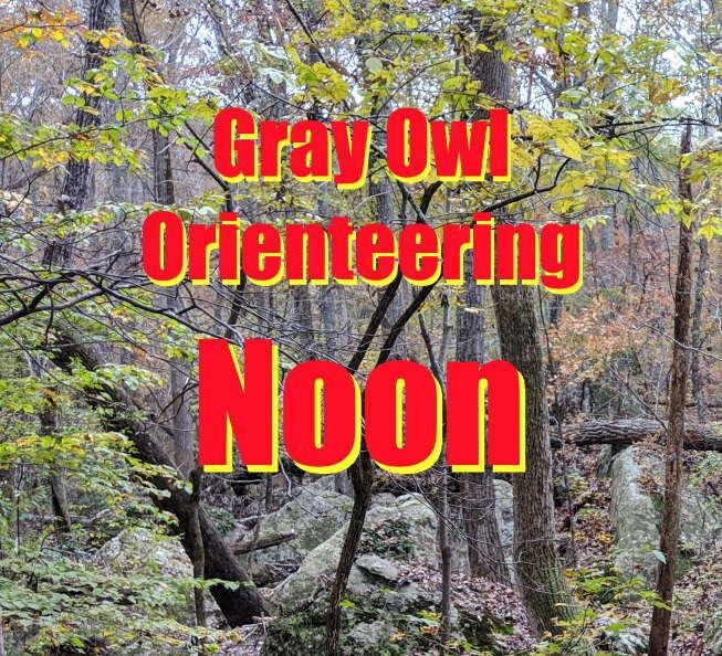 12 Noon Gray Owl Orienteering April 18 8G33LNYT