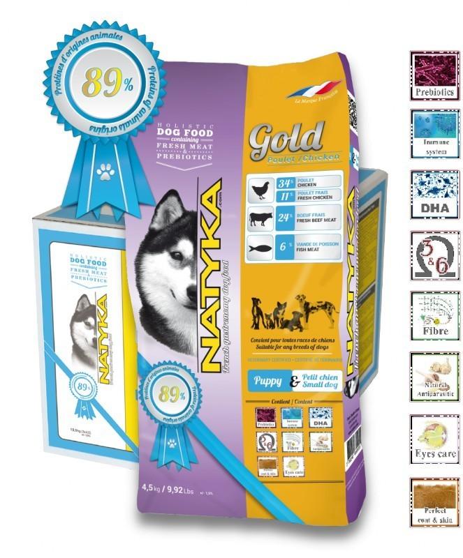Корм Natyka Gold Puppy 13,5 кг (для щенков и собак мелких пород)