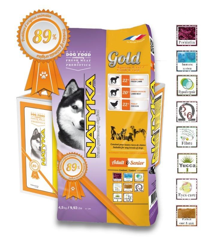 Корм Natyka Gold Lamb and Rice 4.5 кг