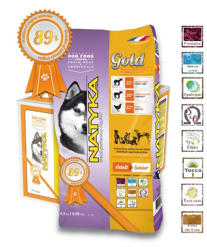 Корм Natyka Gold Lamb and Rice 4.5 кг