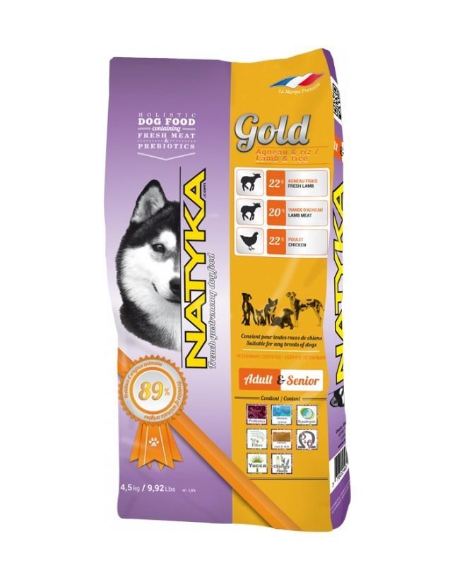 Корм Natyka Gold Lamb and Rice 13.5 кг