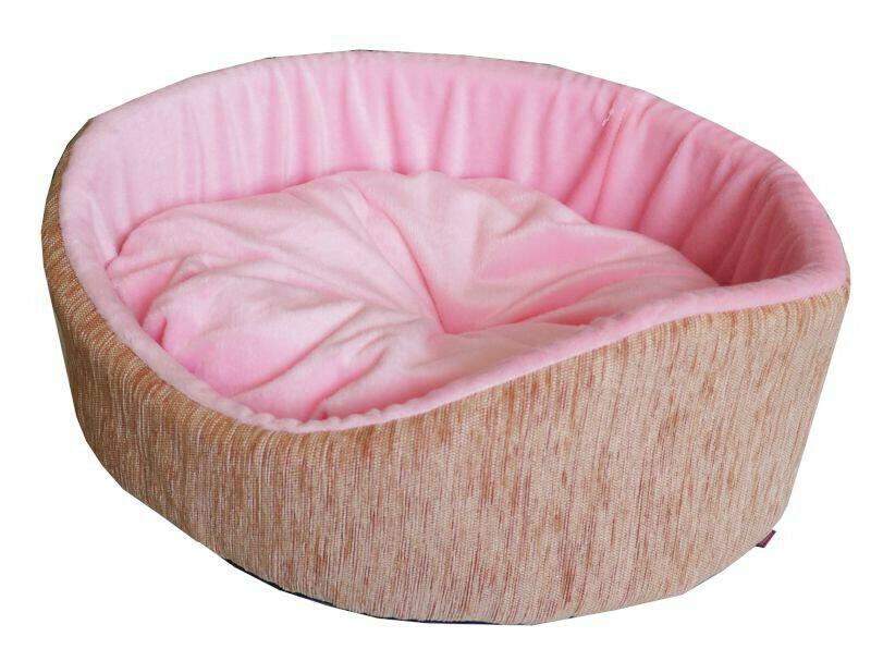 Лежанка Круглая с матрацем мебельная ткань+плюш для собак