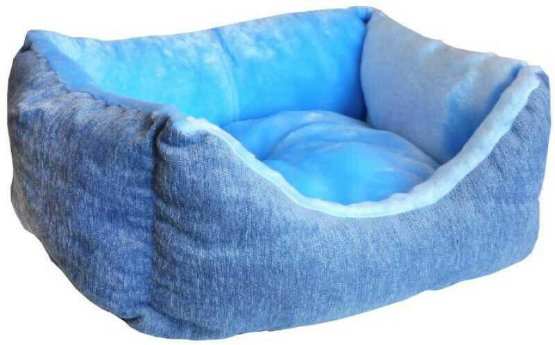 Лежанка пухлик мебельная ткань+мех
