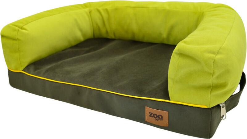 """Лежанка диван """"Ампир"""" мебельная ткань (оливковый/зеленый)."""