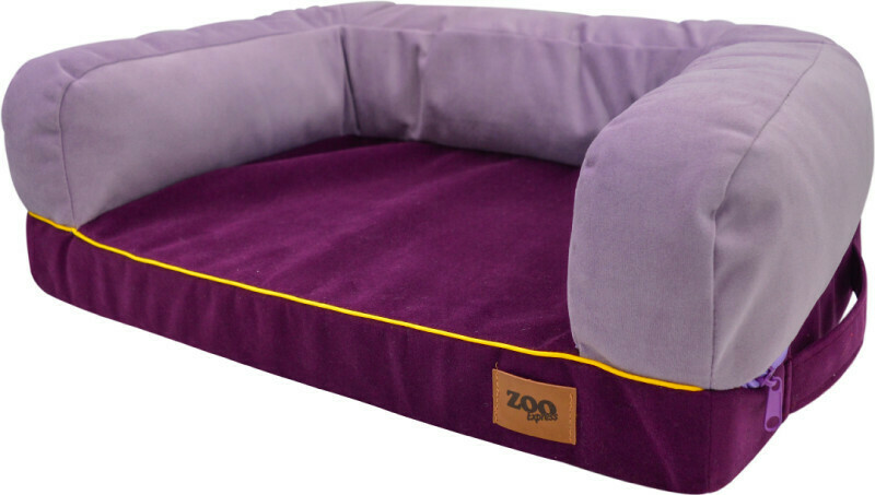 "Лежанка диван ""Ампир"" мебельная ткань (лиловый/баклажан)"