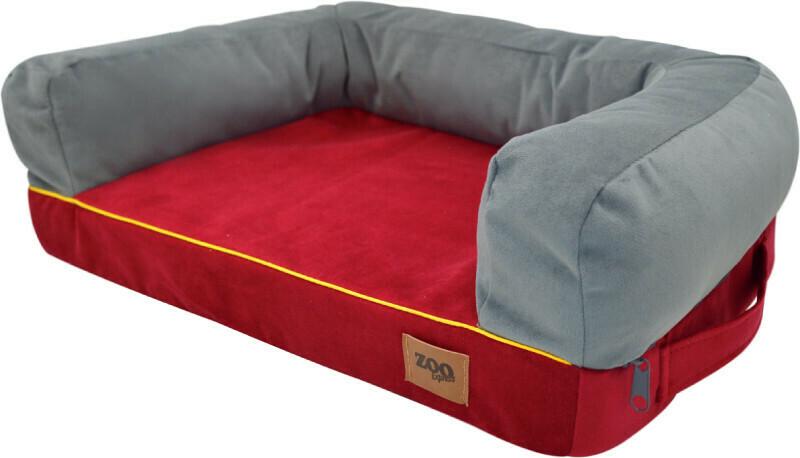 "Лежанка диван ""Ампир"" мебельная ткань (бордо/серый)"