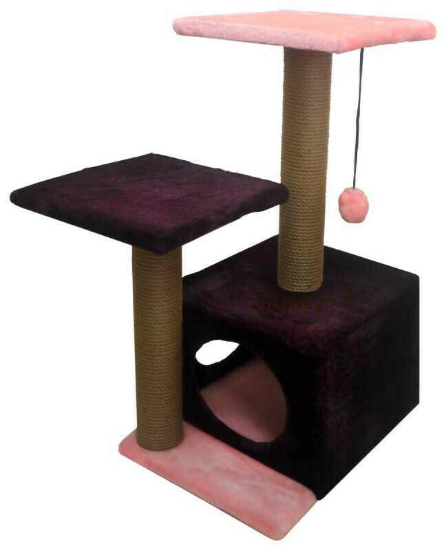 Комплекс Куб 2 полки 2 входа мех однотонный 45х55х76 см
