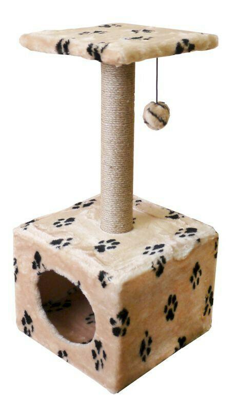 Комплекс Куб большой с полкой мех с рисунком 40х40х72 см