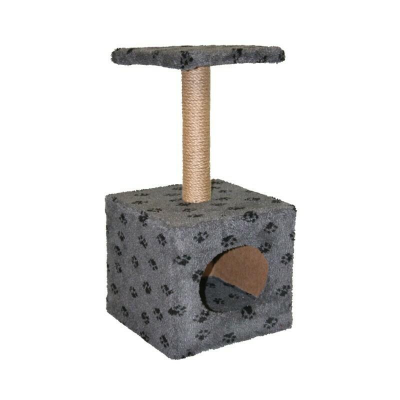 Комплекс Куб малый с полкой мех с рисунком 34х34х72 см