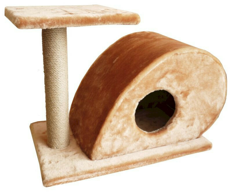 Комплекс Мышка 1 когтеточка с полкой мех однотонный 68х38х50 см