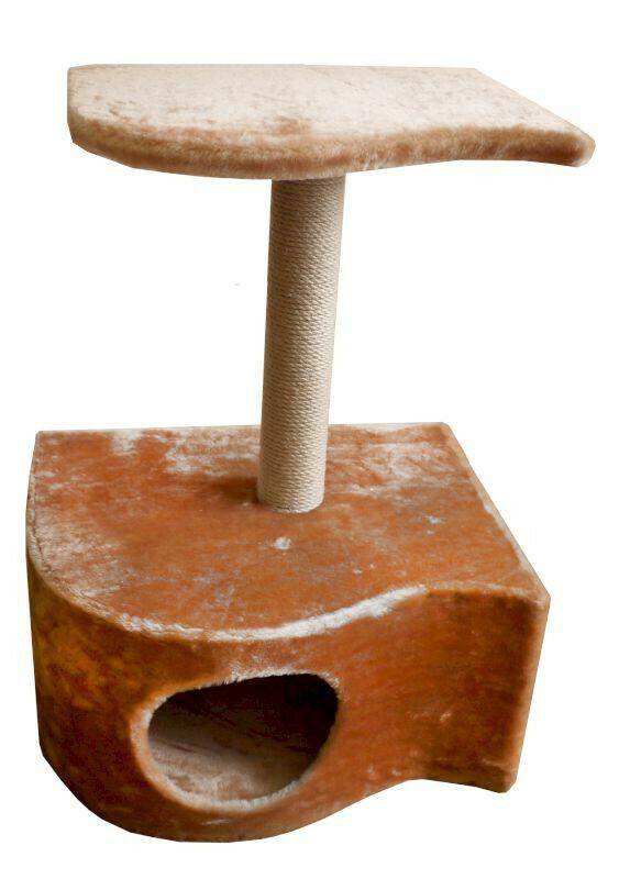 Комплекс Волна 1 когтеточка с полкой мех однотонный 44х54х76 см