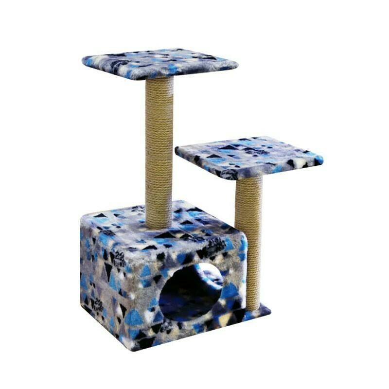 Комплекс Куб 2 полки 2 входа мех с рисунком