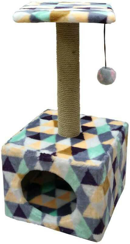 Комплекс Куб малый с полкой мех с рисунком