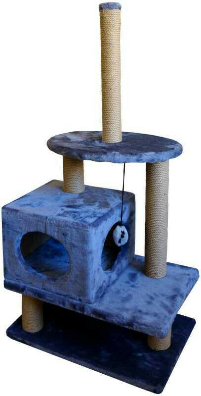 Комплекс Куб 2 входа со столбиком мех однотонный 40х60х125 см