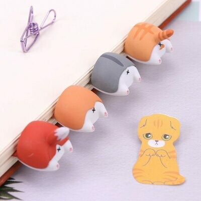 Cute Kawaii Dog Cat Hamster Fox Ass Bookmark