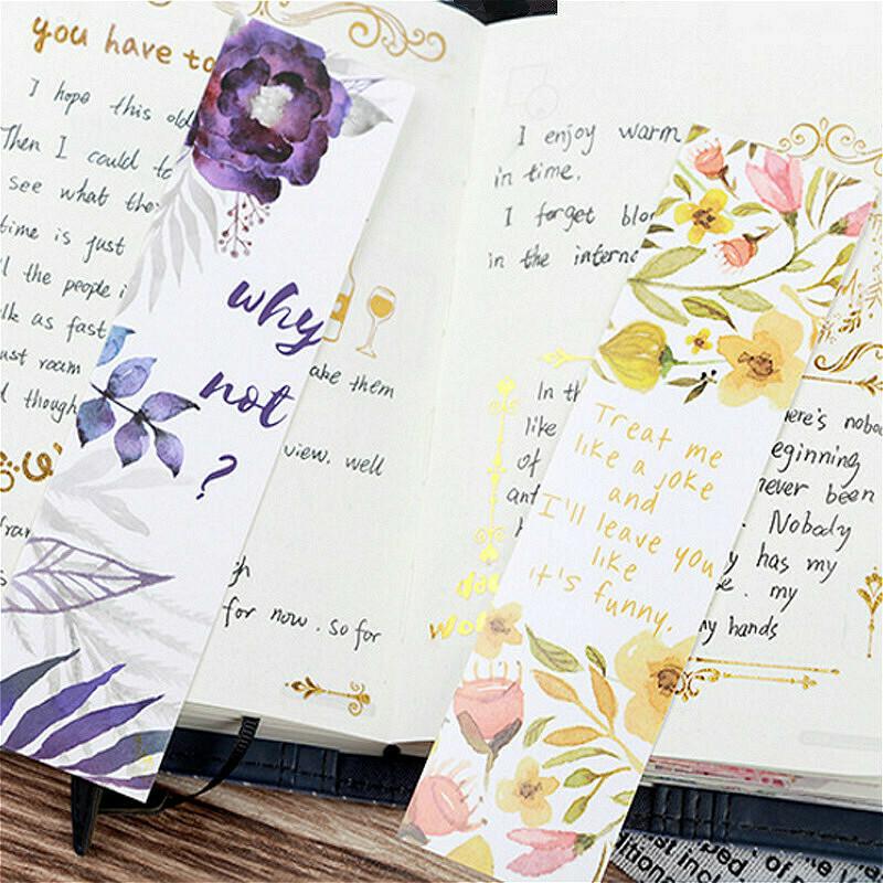 30Pcs/set Beautiful Flowers Bookmarks