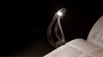 Mini Bookmark with LED Lamp for Night Reading